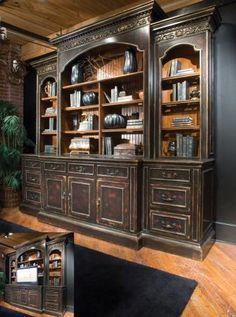 entertainment center with TV lift ! Love this for the big wall in the living room! Oh my