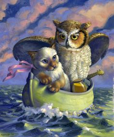 "Phyllis Saroff, ""The Owl and the Pussy Cat""                                                                                                                                                      Mais"