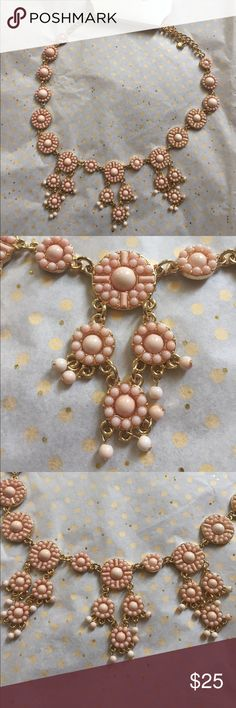 """Versona coral cloud statement necklace This is a peachy/ coral statement necklace. Wear it alone or add some gold studs. Total length is 24"""" with 3 1/2"""" extension. Versona Jewelry Necklaces"""