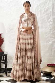 Shop Nakul Sen Embroidered Lehenga Set , Exclusive Indian Designer Latest Collections Available at Aza Fashions Indian Wedding Outfits, Indian Outfits, Indian Attire, Indian Wear, Indian Designer Outfits, Designer Dresses, Lehenga Pattern, Orientation Outfit, Kurta Patterns