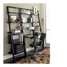 "Sloane Espresso Leaning Desk with 2 25.5"" Bookcases in Bookcases, Towers 