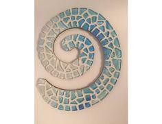 Mosaic art work 'Turquoise Koru' by artist Pia Lönnqvist