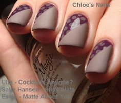 Sally Hansen Slick Slate and Ulta Cocktails Anyone from Chloes Nails.