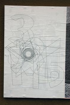 "Reza Abedini, Ficciones Typografika 052 (24""x36""). Installed on August 15, 2013. A thousand thanks for this contribution. More on Ficciones Typografika."