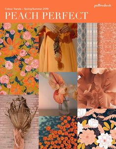 Peach Bursts / Pink & Orange Clash / Blue Tones / Floral & Ethnic Mix / Colour Blends / Greyed Colour Image credits: Floral Mustard by Sabs, John C