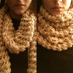 Hand Made Crochet Stretchy Infinity Scarf by KaiseyCrochets