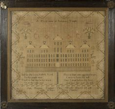 SOLD FOR $357 BONHAMS An early 19th century needlework samplerBy Ann Margate, Dec 13th 1824, aged 9 years seven months,
