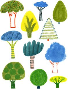 Trees / print by alidouglass on Etsy
