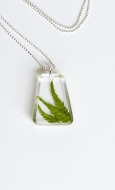 Real Flower Jewelry Fern in Resin Plant Botanical by LOVEnLAVISH, $15.00