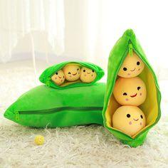 Peas In A Pod Plush Disney Stuffed Cushion Decoration Pillow Doll Soft Toys Gift