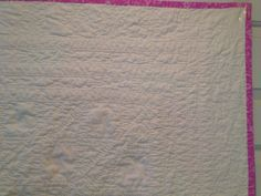 Back of Violet's quilt - heavily quilted!