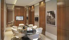 Perspectiva ilustrada - Sala de reunião  http://planoeplano.com.br/imovel/time-center-campinas