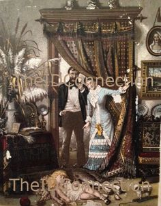 Victorian Trade Card Family Room Sleeping by TheIDconnection, $25.00