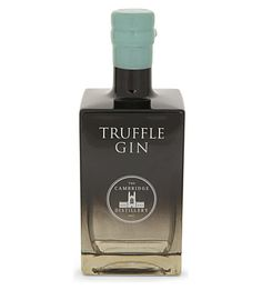 CAMBRIDGE GIN Truffle Gin £79.99, 700ml - The ultimate aperitif, truffle gin is a decadent taste that's sure to impress your guests. The delicate creation is distilled and blended just one litre at a time to ensure precision in its elegance.