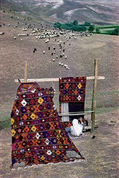 Hand-woven rugs, Anatolia, Turkey photo by Ara Guler