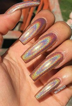 iOS camera image and other apparel, accessories and trends. Browse and shop 8 related looks. Fabulous Nails, Gorgeous Nails, Pretty Nails, Nails Polish, Gel Nails, Long Acrylic Nails, Long Nails, Crome Nails, Beautiful Nail Designs