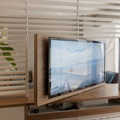 tv mounted room divider - Google Search