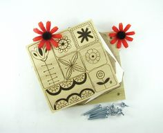 Flower Press  Wood Pyrography  Scandinavian Floral by bkinspired, $15.00