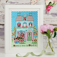 A4 Unframed Illustration Print 'Home is Where The Heart Is'. $15.00, via Etsy.