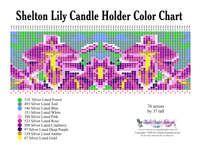 Shelton Lily Candle Printable Bead Graph for Beading