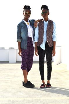 A bit more on the hipster side, but they're having fun with vests and layering in a way that looks fresh because of the button-down shirts that add an element of sophistication.