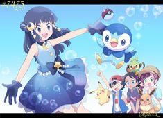 Pokemon Alola, Pokemon People, Pokemon Fan Art, Cool Pokemon, Pikachu, Anime Chibi, Anime Manga, Pokemon Ash And Serena, Pokemon Couples
