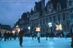 Skating in front of the Hotel de Ville, Paris