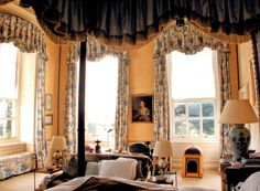 Cornbury Park Master Bedroom of Lady & Lord Rotherwick by the great John Fowler. published World of Interiors Dec 2008