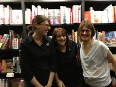 An Evening With Kevin Powers 06/09/12. The lovely events team at Waterstones Covent Garden, Florentyna, Hannah and Jen.