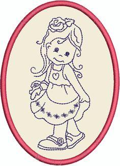 """allerliebstes Blumenmädel ind meinem Shop allerliebste Stickdatei """"Blumenmädchen"""" findet ihr in meinem Shop: http://www.lollikids.de"""