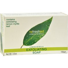 Tea Tree Therapy Lemon Myrtle Soap Exfoliating - 3.5 oz - Tea Tree Therapy Lemon Myrtle Soap Exfoliating Description:    Australian Made  Australian Owned  Australian Grown  Refreshed Lemon Myrtle  Exfoliating Soap Refreshed Lemon Myrtle Soap contains all natural ingredients including Lemon Myrtle essential oil harvested from renewable plantation trees grown chemical free in the moist rich volcanic soil surrounding Byron bay in new South Wales Australia.   The moisturizing qualities of…