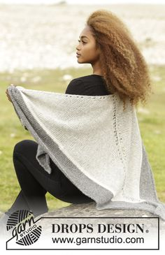 Open Air shawl by DROPS Design. Free #knitting pattern