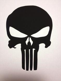 Punisher Skull symbole piquéesmain noir par CuttingPixels sur Etsy