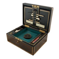 Victorian Leather Stationery Box