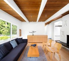 Architecture firm omb (office of mcfarlane biggar) designed the renovation of the Canyon House, a 1950s family home in Vancouver, Canada.