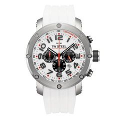 Men's Wrist Watches - TW Steel Mens Grandeur Tech White Rubber Chronograph Dial Watch * Visit the image link more details. Affordable Watches, Discount Watches, Breitling Watches, Skagen, Rubber Bands, Unisex, Watches For Men, Wrist Watches, Black Rubber