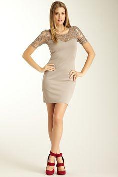 Lace Panel Dress $19, #Hautelook