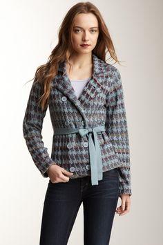 Shu Shu Jaquard Jacket Style Cardigan from HauteLook on shop.CatalogSpree.com, your personal digital mall.