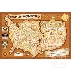 Map of Monstru