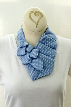 Womens Collar Necklace Recycled Necktie by OgsploshAccessories, $40.00