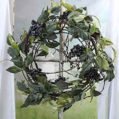 Grape Cluster & Grape Leaf Wreath