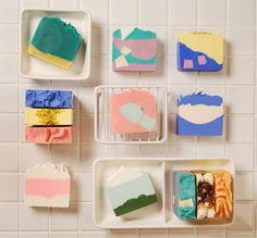 Beautiful candy colored soaps from Hanahzo.