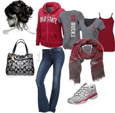 """Ohio State!!!"" by elzbthschlater on Polyvore"