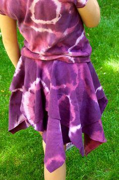 Aesthetic Nest: Sewing: Tie-Dye Tissue Hem Skirt (Tutorial)