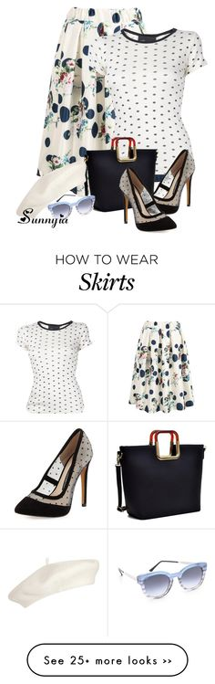 """Midi Skirt"" by sunnyia on Polyvore"
