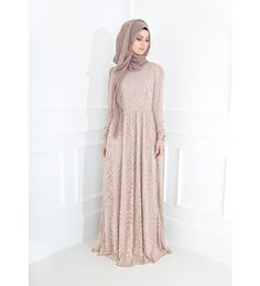 BLUSH LACE GOWN  ~ Inayahcollection.com