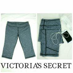 "**New Item** EUC VSX Knockout Crop Barely worn VSX Sport knockout crop. Marbled gray and black. 42% polyester 39% Nylon 19% Elastane. 17 "" inseam. Victoria's Secret Pants"