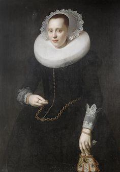 Nicolaes Eliasz. Pickenoy - Portret van een dame (1624)