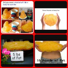 and here's what 50 lbs of fat looks like…  workout