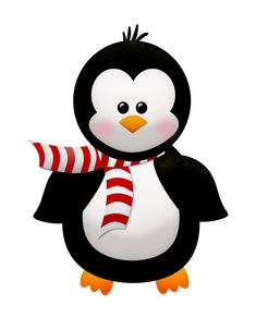 Penguin in a scarf Cartoon Drawings, Cute Drawings, Penguin Clipart, Penguin Illustration, New Years Decorations, Christmas Clipart, Digi Stamps, Bottle Crafts, Kids Cards